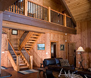R1-0426 Log Home Staircase