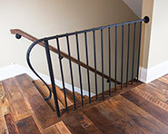 R1-0451 Hand Hammered Balustrade with Vertical Volute