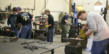 Blacksmithing Class Working